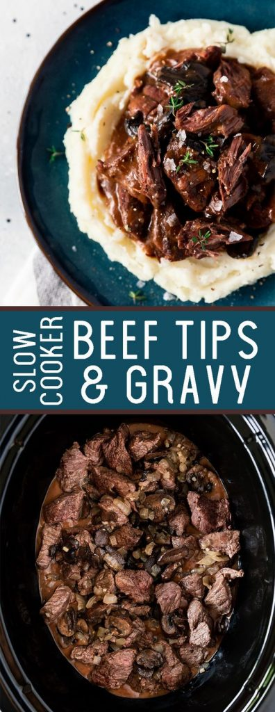 Beef Tips and Gravy Slow Cooker