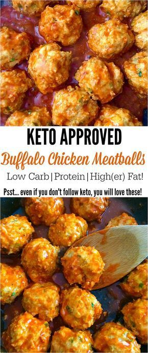 Keto Buffalo Chicken Meatballs