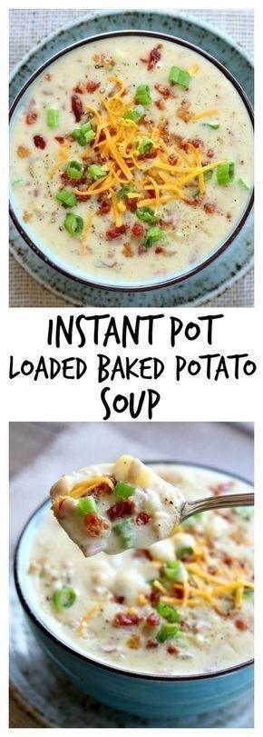 Instant Pot Loaded Baked Potato Soup