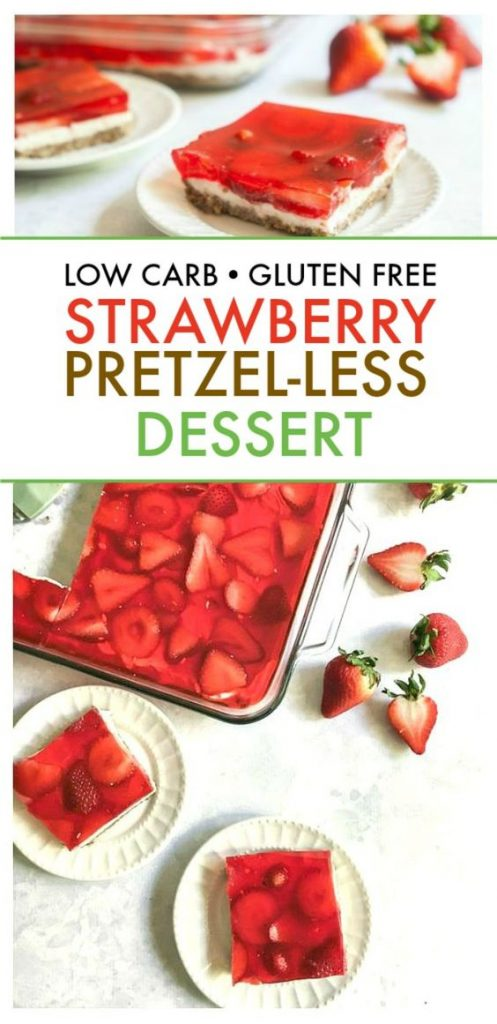 Low Carb Strawberry Pretzel-less Salad