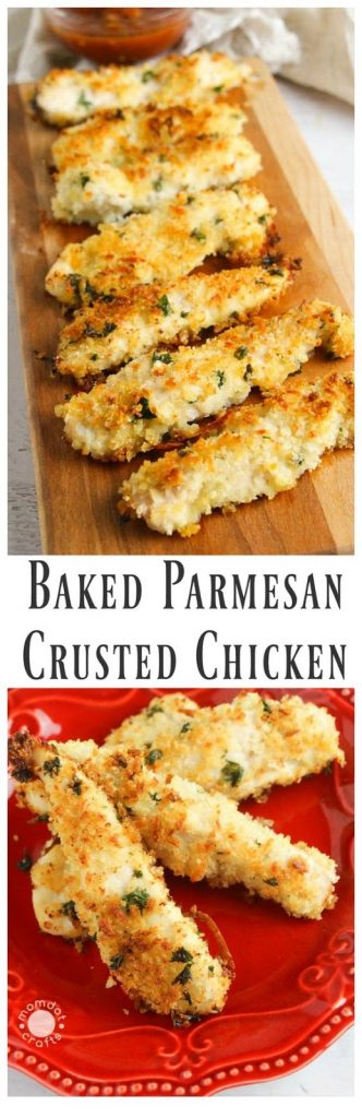 LOVELY BAKED PARMESAN CRUSTED CHICKEN RECIPE